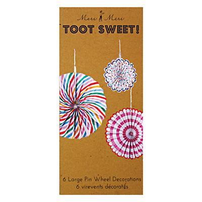 Toot Sweet Hanging Pinwheels (Set of 6)