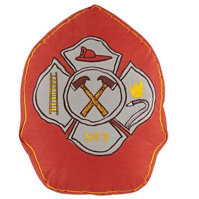 Fire Cadet Badge Throw Pillow (Red)