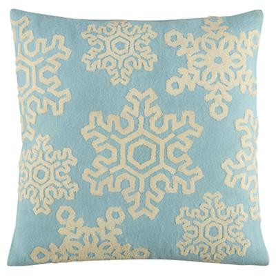 Fresh Powder Throw Pillow