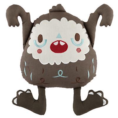 Yeti Throw Pillow (Brown)