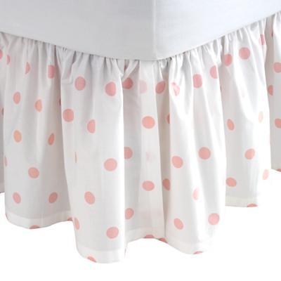 Queen Dk. Pink Pastel Dots Skirt