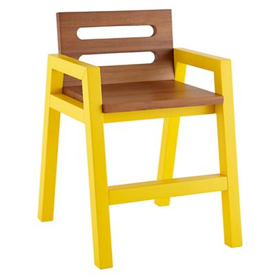 Two-Tone Teak Play Chair (Yellow)