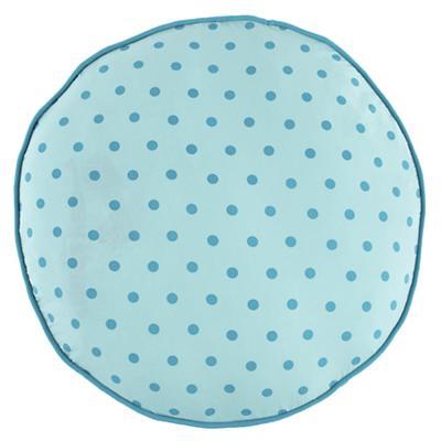Teal Polka Dot Floor Cushion