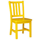 """Bright Yellow Parker Play ChairFloor to Seat: 14"""" H"""