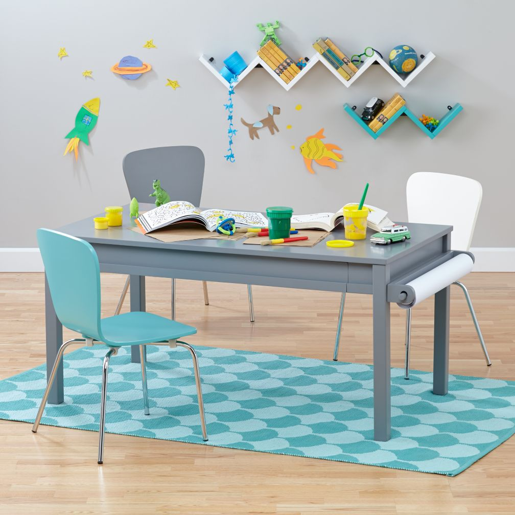 Kids play tables activity tables the land of nod for Children s craft table