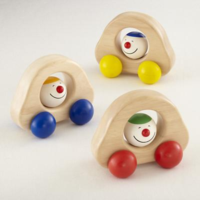 Wooden Happy Roller Car