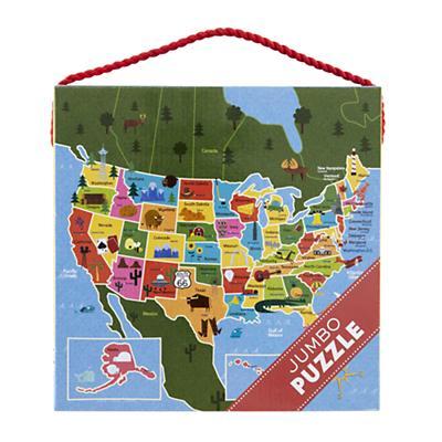 25 Piece Jumbo USA Puzzle