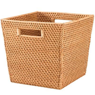 Rattan Cube Basket (Honey)