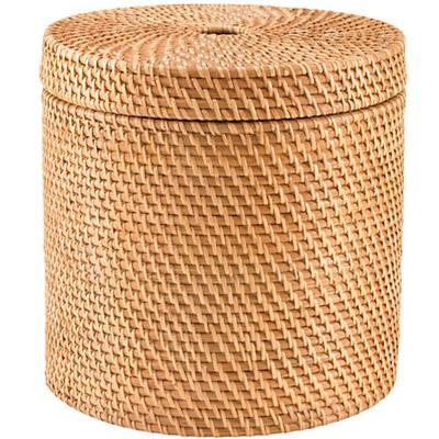 Rattan Round Floor Basket (Honey)