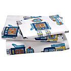 Twin Robot Sheet SetIncludes fitted sheet, flat sheet and one pillowcase