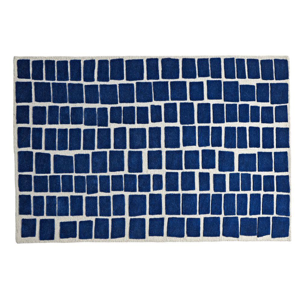 Blue Bars Rug