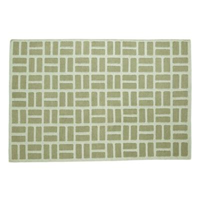 4 x 6' Brick by Brick Rug (Green)