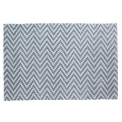 4 x 6'  Zig Zag Rug (Grey)