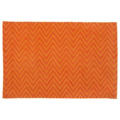 4 x 6'  Zig Zag Rug (Orange)
