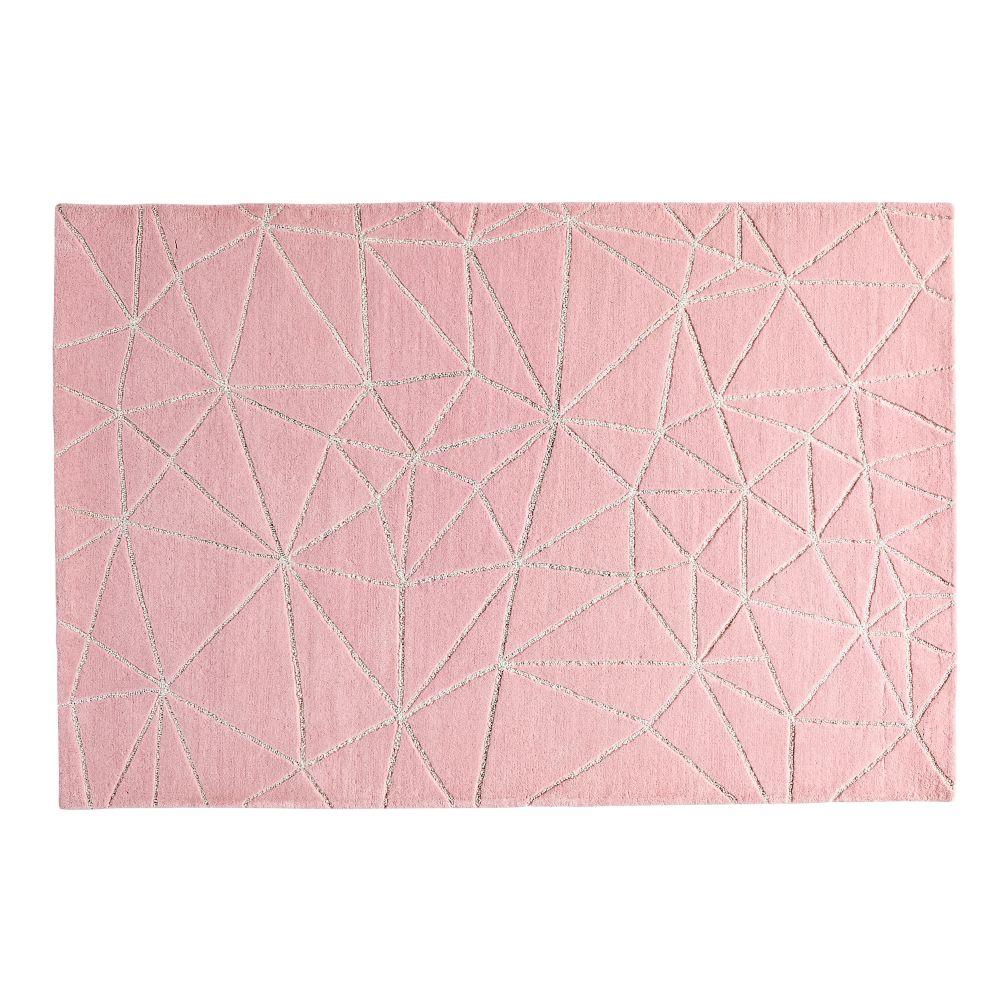 Crystal Mosaic Rug (Pink)