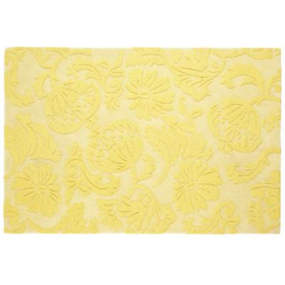 5 x 8' Raised Floral Rug (Yellow)