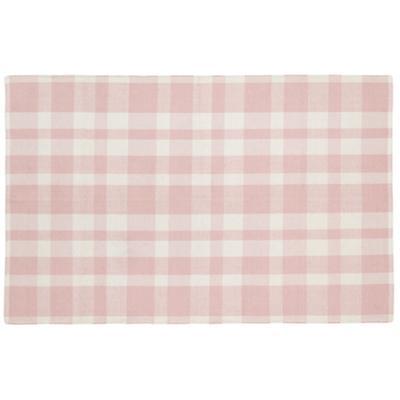 4 x 6' Pastel Plaid Rug (Pink)