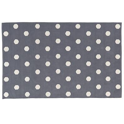 8 x 10' Lotsa Polka Dots Rug (Grey)