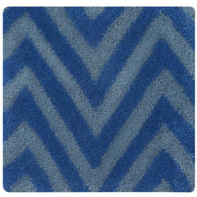 Blue Zig Zag Rug Swatch