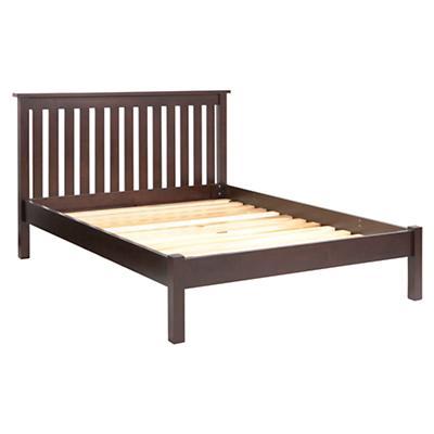 Full Simple Espresso Bed (Headboard w/Wood Frame)