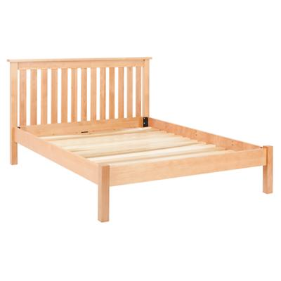 Full Simple Natural Bed (Headboard w/Wood Frame)