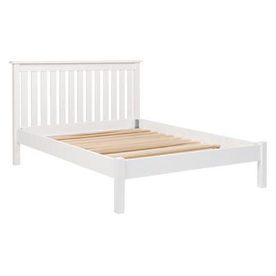 Full Simple White Bed (Headboard w/Wood Frame)