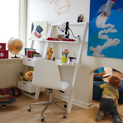 Little Sloane Leaning Bookcase (White)
