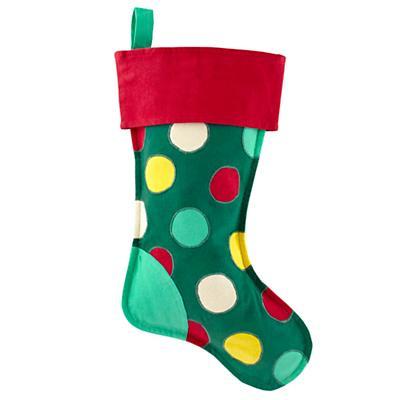 On the Bright Side Stocking (Dots)