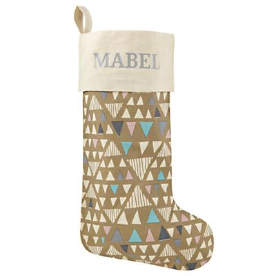 Personalizaed Geometric Forest Stocking (Gold)