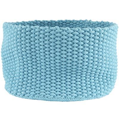 Large Kneatly Knit Rope Bin (Aqua)