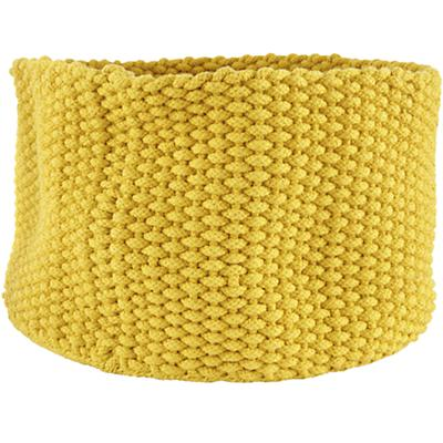 Large Kneatly Knit Rope Bin (Yellow)