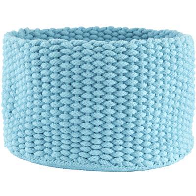 Medium Kneatly Knit Rope Bin ((Aqua))