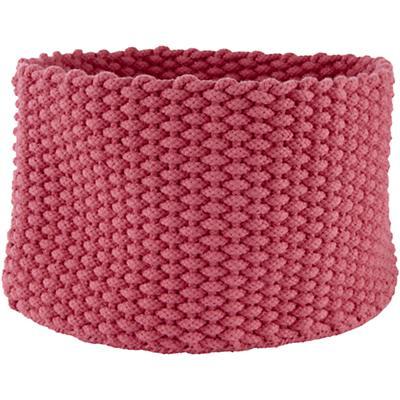 Medium Kneatly Knit Rope Bin (Pink)
