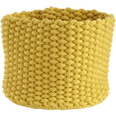Small Kneatly Knit Rope Bin (Yellow)