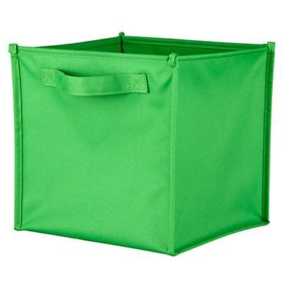 I Think I Canvas Canvas Cube Bin (Bright Green)