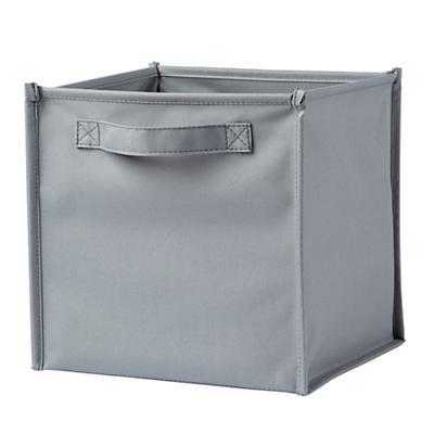 I Think I Canvas Canvas Cube Bin (Grey)