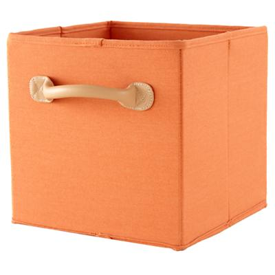 We're Not Just Canvas Anymore Cube Bin (Orange)