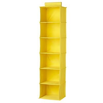 I Think I Canvas Wide Hanging Organizer (Yellow)