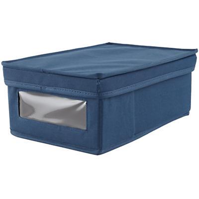 I Think I Canvas Shoe Box (Blue)