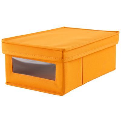I Think I Canvas Shoe Box (Orange)