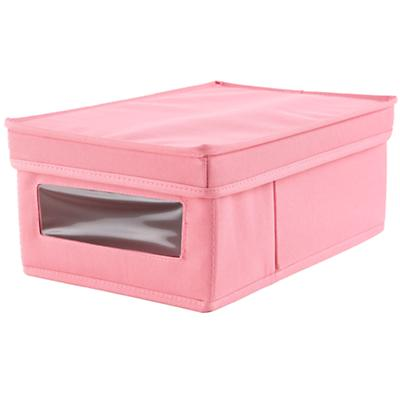 I Think I Canvas Shoe Box (Pink)