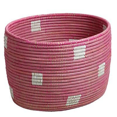 Charming Floor Bin (Pink Dots)