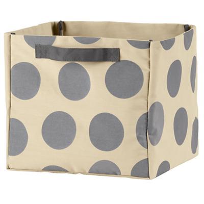 Dotted Cube Bin (Grey)