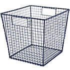 Blue Down to the Wire Cube Bin