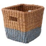 Half Tone Cube Basket (Blue)