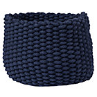 Small Dk. Blue Kneatly Knit Rope Bin