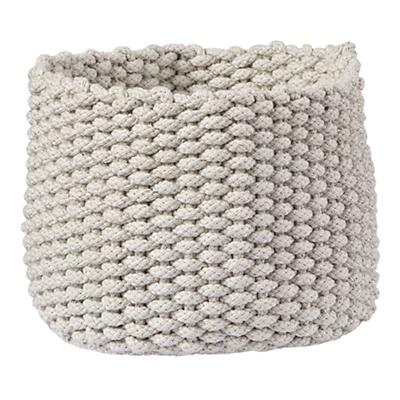 Small Kneatly Knit Rope Bin (Khaki)