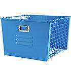 Blue Metal Locker Basket