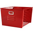 Red Metal Locker Basket