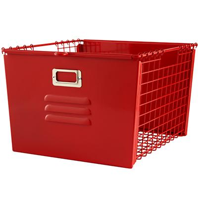 Saved by the Cube Bin Locker Basket (Red)